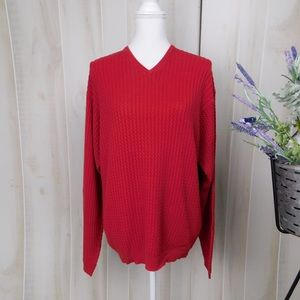 Pendleton Red Cabled Knit Sweater
